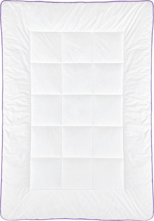 STEPPDECKE - Weiß, Basics, Textil (140/200cm) - Sleeptex