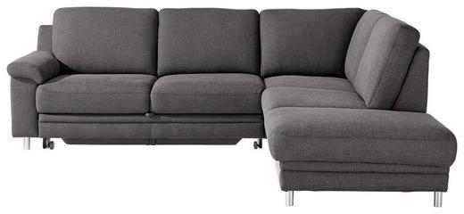 WOHNLANDSCHAFT Dunkelgrau - Chromfarben/Dunkelgrau, MODERN, Textil (252/208cm) - Pure Home Comfort