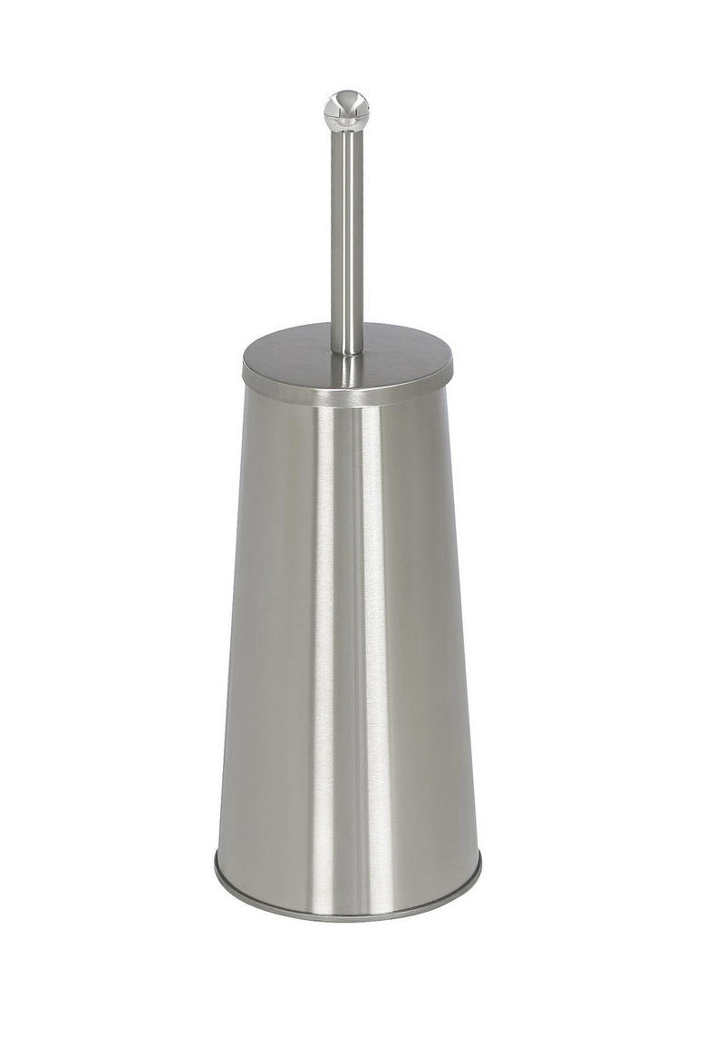 TOALETTBORSTE MED HÅLLARE - rostfritt stål-färgad, Basics, metall (13/42/13cm) - Xora