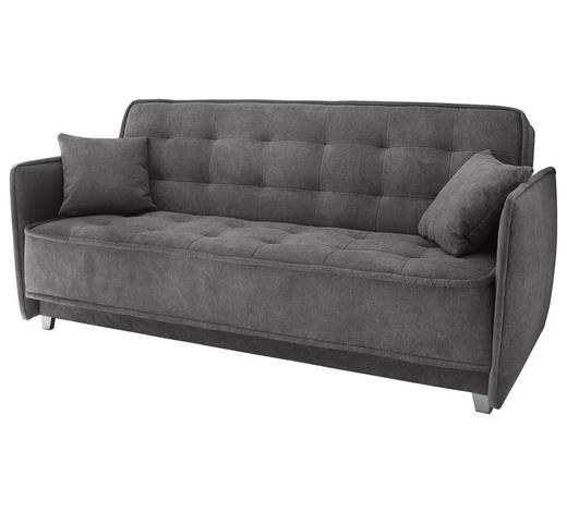 SCHLAFSOFA in Textil, Holzwerkstoff Grau - Silberfarben/Grau, Trend, Holzwerkstoff/Kunststoff (216/95/95cm) - Carryhome