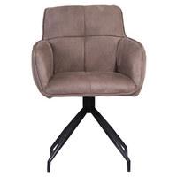 STOL, kovina, tekstil svetlo rjava  - svetlo rjava, Moderno, kovina/tekstil (47,50/85/61,50cm) - Hom`in