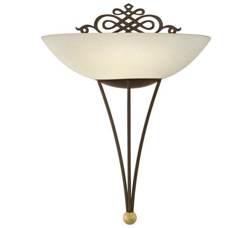 WANDLEUCHTE - Beige/Goldfarben, LIFESTYLE, Glas/Metall (30cm)