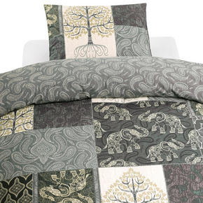 PÅSLAKANSET - vit/grå, Basics, textil (220/210cm)
