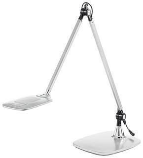 LED-SKRIVBORDSLAMPA - silver, Design, metall/plast (25,5/18,5/49,5cm) - Novel
