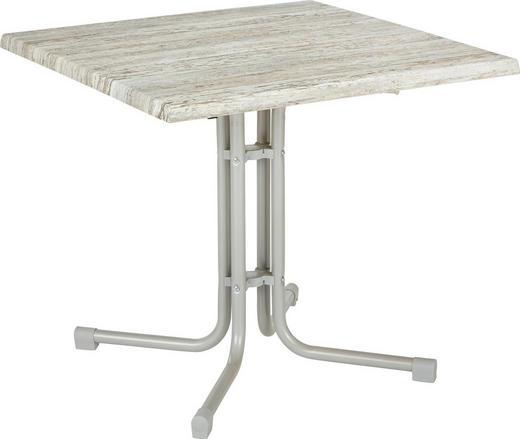 STOL VRTNI - siva/boje srebra, Konvencionalno, drvni materijal/metal (80/80/71cm) - AMBIA GARDEN