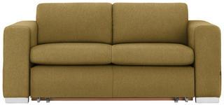 SCHLAFSOFA in Textil Gelb  - Gelb/Silberfarben, KONVENTIONELL, Kunststoff/Textil (190/83/98cm) - Carryhome