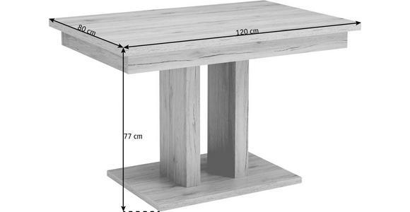 ESSTISCH in Holzwerkstoff 120/80/77 cm   - Sandfarben/Eichefarben, Natur, Holzwerkstoff (120/80/77cm) - Cantus