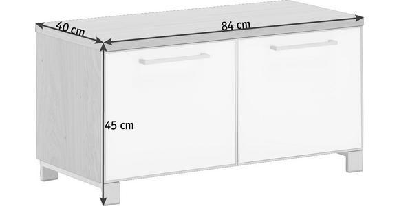 GARDEROBENBANK 84/45/40 cm  - Chromfarben/Anthrazit, Design, Glas/Holzwerkstoff (84/45/40cm) - Novel