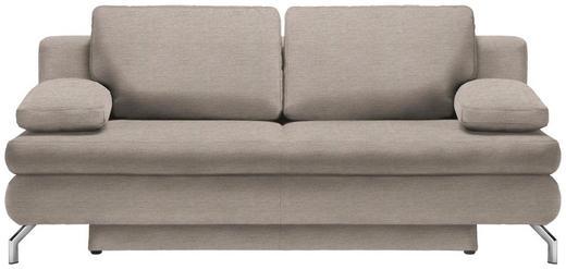 SCHLAFSOFA in Textil Beige - Chromfarben/Beige, Design, Textil/Metall (200/91/92cm) - Novel