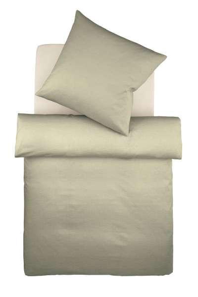 BETTWÄSCHE Makosatin Silberfarben 155/220 cm - Silberfarben, Textil (155/220cm) - FLEURESSE