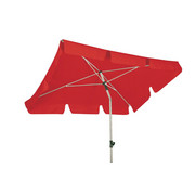Sonnenschirm Rot Silberfarben Konventionell Textil Metall 180 120cm
