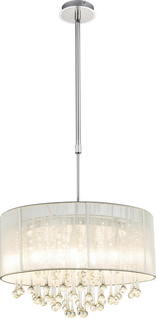 HÄNGELEUCHTE - Silberfarben, LIFESTYLE, Glas/Textil (50/120cm)