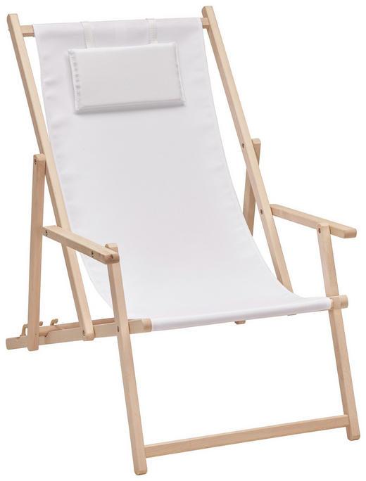 STRANDSTUHL Buche Buchefarben, Weiß - Buchefarben/Weiß, Design, Holz/Textil (56/66/103cm) - Xora