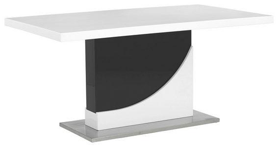TRPEZARIJSKI STO - Crna/Bela, Dizajnerski, Metal/Pločasti materijal (160/90/76cm) - Xora