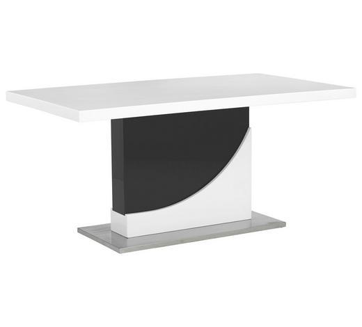 STOL ZA BLAGOVAONICU  crna, bijela  metal, drvni materijal      - bijela/crna, Design, drvni materijal/metal (160/90/76cm) - Xora