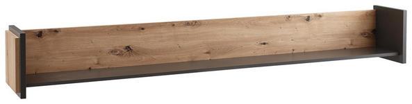 WANDBOARD in 187/26/24 cm Grau, Eichefarben  - Eichefarben/Grau, Design, Holzwerkstoff (187/26/24cm) - Hom`in