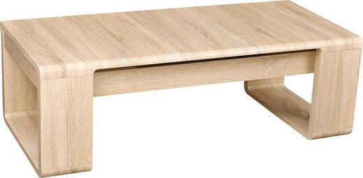 COUCHTISCH rechteckig Eichefarben - Eichefarben, Design, Holzwerkstoff (102-127/42/60cm) - CARRYHOME