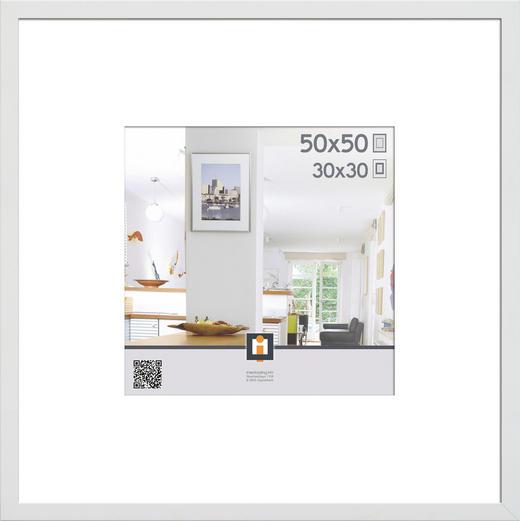 BILDERRAHMEN  Weiß - Weiß, Basics, Kunststoff (53/53/3cm)