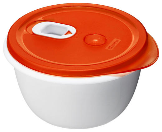 MIKROWELLENDOSE 1,6 L - Rot/Weiß, Kunststoff (19/10,5cm) - Rotho