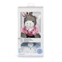 Digitale Spieluhr - Rosa/Grau, Basics, Textil (20/20/8cm) - Sterntaler