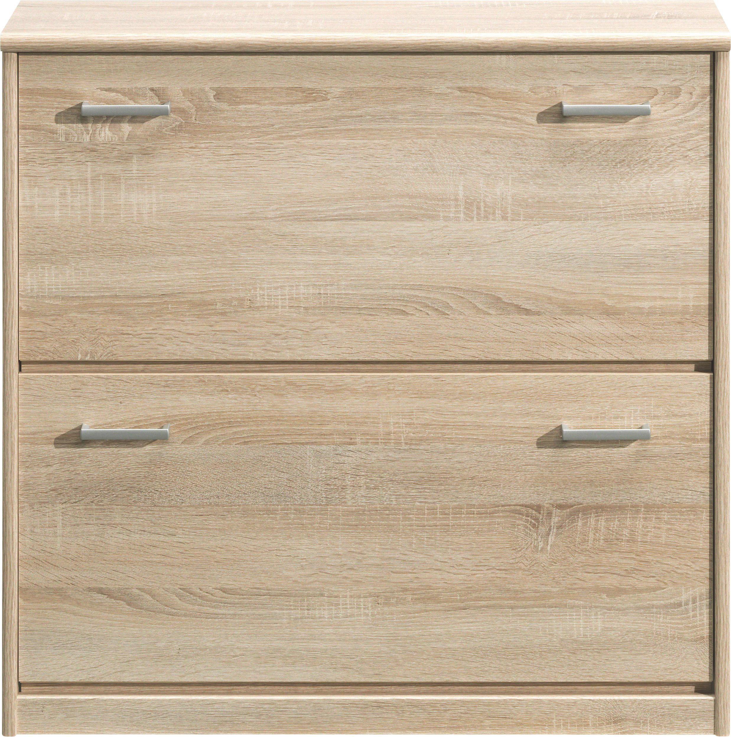 SCHUHKIPPER sägerau Eichefarben - Eichefarben/Silberfarben, Design, Kunststoff (87/84/27cm) - CS SCHMAL