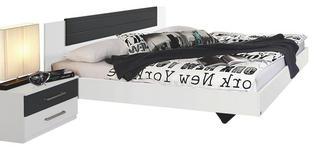 BETTANLAGE 180/200 cm  in Grau, Weiß   - Weiß/Grau, Basics, Holzwerkstoff (180/200cm) - Carryhome