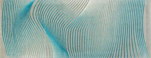 FUßMATTE 80/200 cm Graphik Hellgrau, Türkis - Türkis/Hellgrau, Basics, Kunststoff/Textil (80/200cm) - Esposa