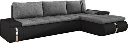 WOHNLANDSCHAFT in Textil Schwarz, Dunkelgrau  - Dunkelgrau/Schwarz, KONVENTIONELL, Kunststoff/Textil (278/178cm) - Carryhome