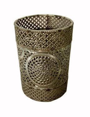VÄRMELJUSHÅLLARE - silver, Lifestyle, metall/glas (9/12cm) - Ambia Home