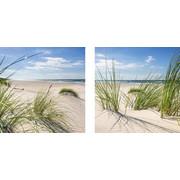 Strand & Meer GLASBILD - Multicolor, Design, Glas (30/60/1,7cm) - Eurographics