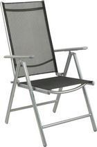 ZLOŽLJIV VRTNI STOL  aluminij črna - črna, Design, kovina/tekstil (56/106/64cm) - Ambia Garden