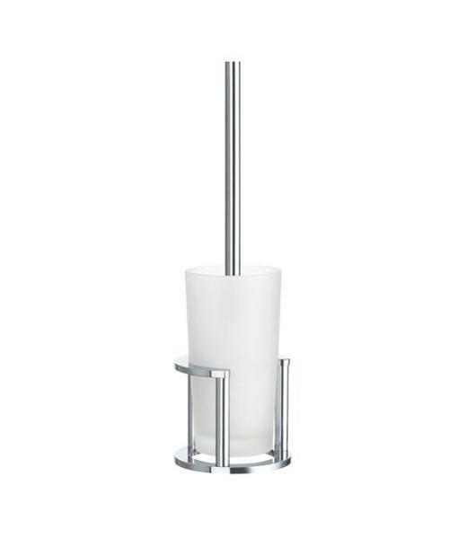 WC-BÜRSTENGARNITUR in Metall - Chromfarben, Basics, Glas/Kunststoff (43.5/13.5/13.5cm)