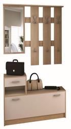 PREDSOBLJE - bijela/hrast Sonoma, Design, drvni materijal/metal (100/189/27,5cm) - BOXXX