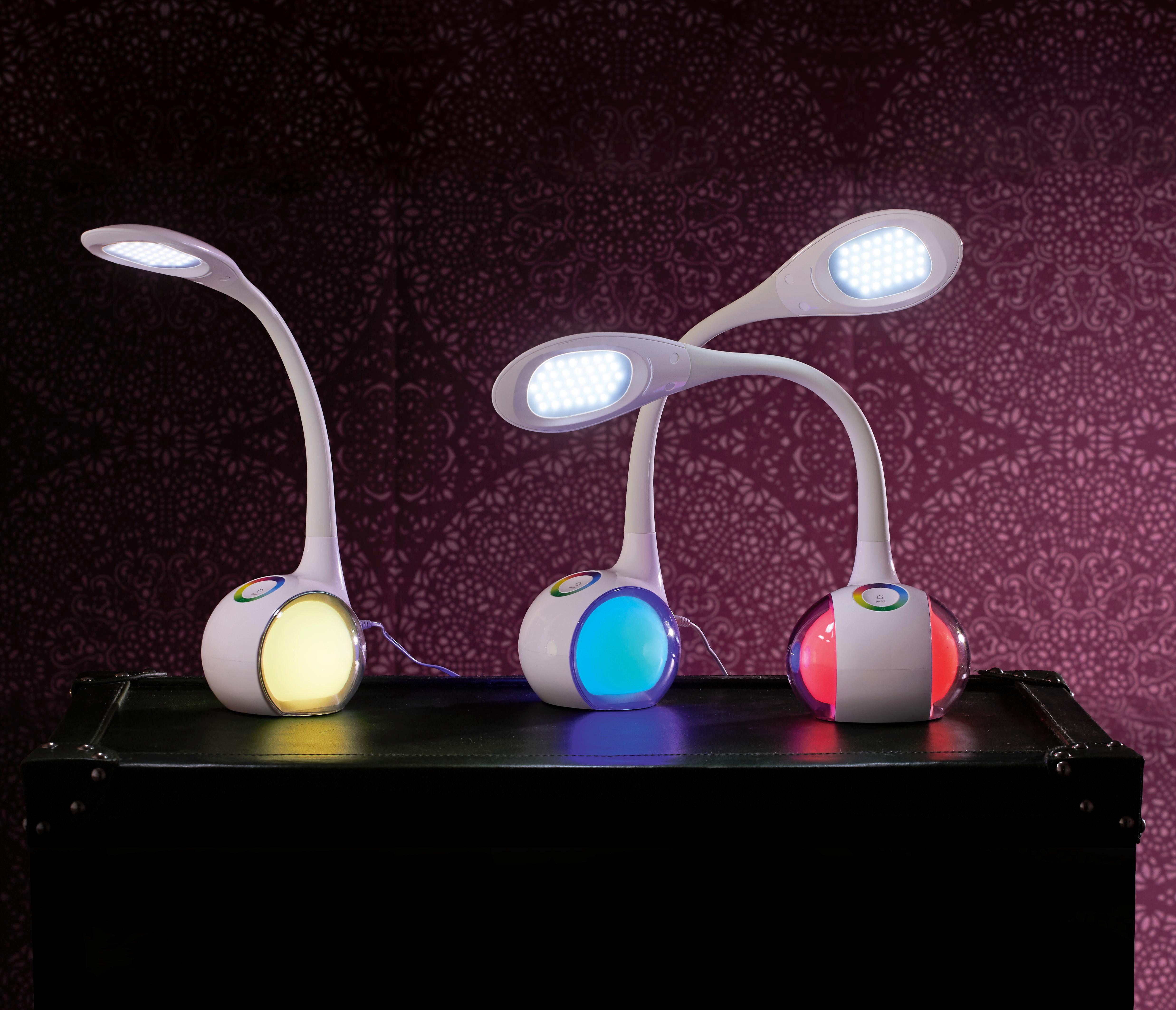 LED-SKRIVBORDSLAMPA - vit, Trend, metall/plast (13,5/11,5/52,5cm) - Boxxx