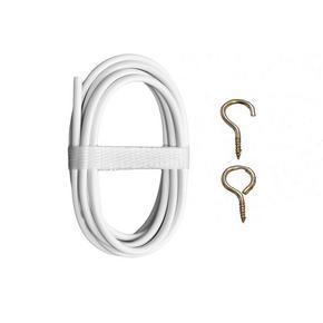 gardinspiral - vit, Basics, metall/plast (200cm)