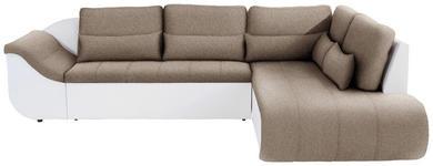 Wohnlandschaft in L-Form Carisma 300xx210 cm - Beige/Schwarz, MODERN, Textil (300/210cm) - Ombra
