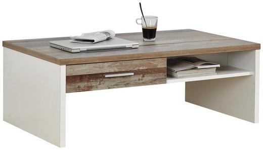 COUCHTISCH in Holzwerkstoff 110/65/40 cm - Chromfarben/Braun, Trend, Holzwerkstoff/Kunststoff (110/65/40cm) - Carryhome