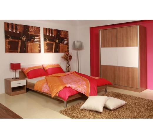 SPAVAĆA SOBA - bijela/boje drva jabuke, Design, drvni materijal/metal - Boxxx