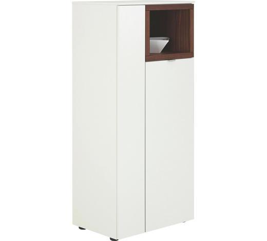 HIGHBOARD 60/139/43 cm  - Nussbaumfarben/Alufarben, Design, Holz/Holzwerkstoff (60/139/43cm) - Venjakob