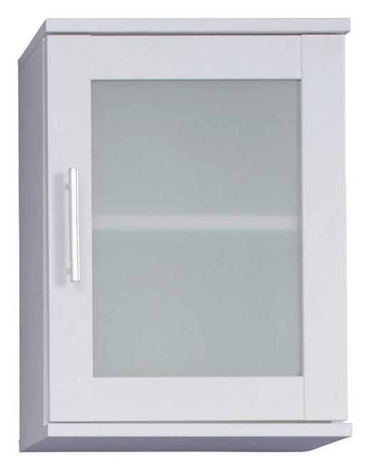 HÄNGESCHRANK Weiß - Silberfarben/Weiß, Design, Glas/Holzwerkstoff (35/48/22cm) - Xora