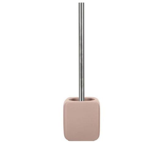 WC GARNITURA S ŠČETKO CUBIC - roza/nerjaveče jeklo, Basics, kovina/umetna masa (38/10,8cm) - Kleine Wolke