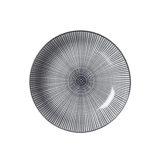 SUPPENTELLER - Schwarz/Weiß, Trend, Keramik (20,5cm) - Ritzenhoff Breker