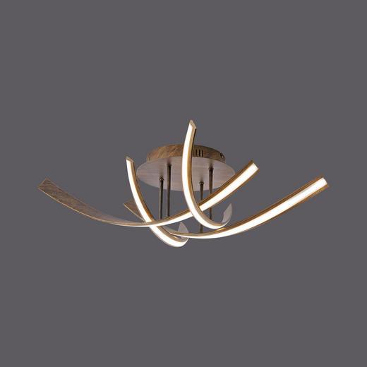LED-DECKENLEUCHTE - Rostfarben, Design, Metall (73/73/20cm)