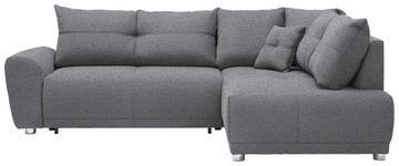 WOHNLANDSCHAFT in Textil Grau  - Silberfarben/Grau, KONVENTIONELL, Kunststoff/Textil (260/205cm) - Carryhome