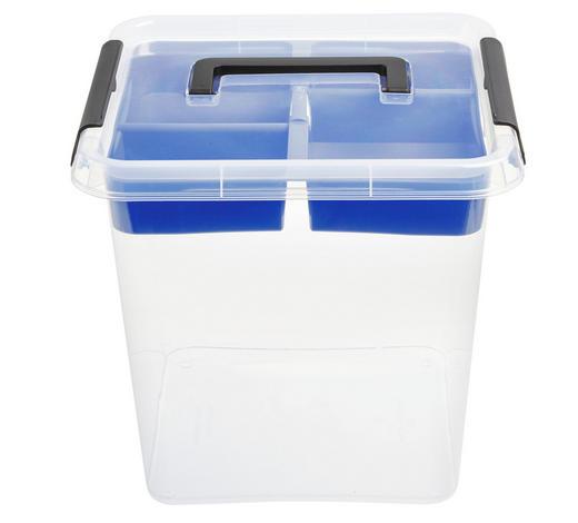 BOX MIT DECKEL 30/30/26 cm - Transparent, Basics, Kunststoff (30/30/26cm)