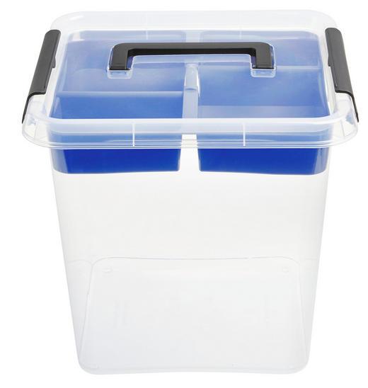 BOX S VÍKEM - průhledná, Basics, umělá hmota (13,0l)