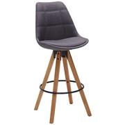 BAROVÁ ŽIDLE, barvy dubu, tmavě šedá - barvy dubu/černá, Design, kov/dřevo (49/113,5/56cm) - Carryhome