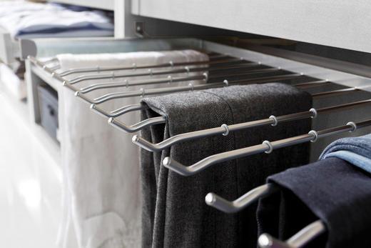 HOSENHALTER Ausziehbar, Montage an Innense Alufarben - Alufarben, Design, Metall (100cm) - Hom`in