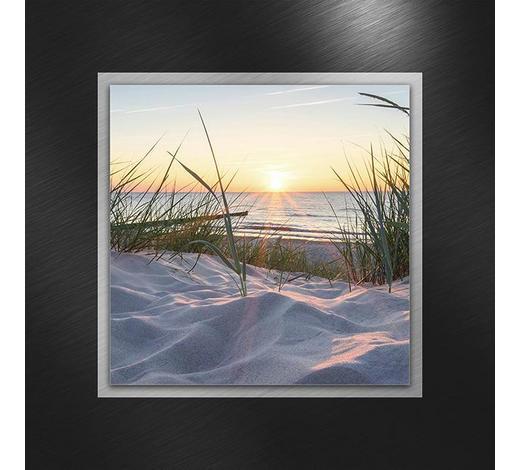 GLASBILD - Multicolor, Natur, Glas/Metall (50/50/3,50cm)