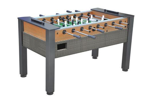 TISCHFUßBALL OUTDOOR ST-8012 - Braun/Grau, KONVENTIONELL, Holz/Metall (155/81/90cm)
